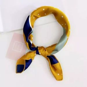 Accessories - The Betsy - Gold, Navy Blue & Sea Foam Neck Scarf